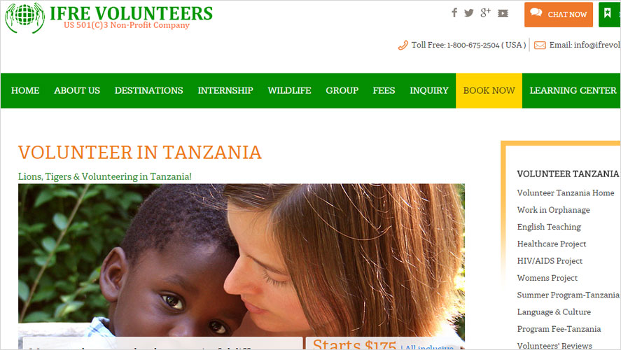 Low cost volunteer opportunities in Tanzania by IFRE
