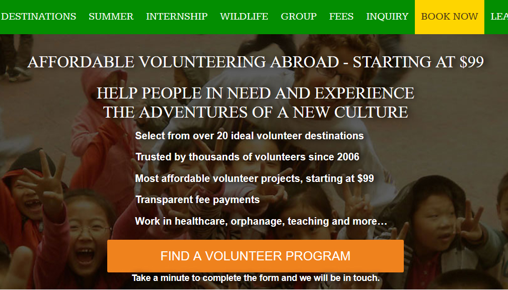volunteer with parent less child india