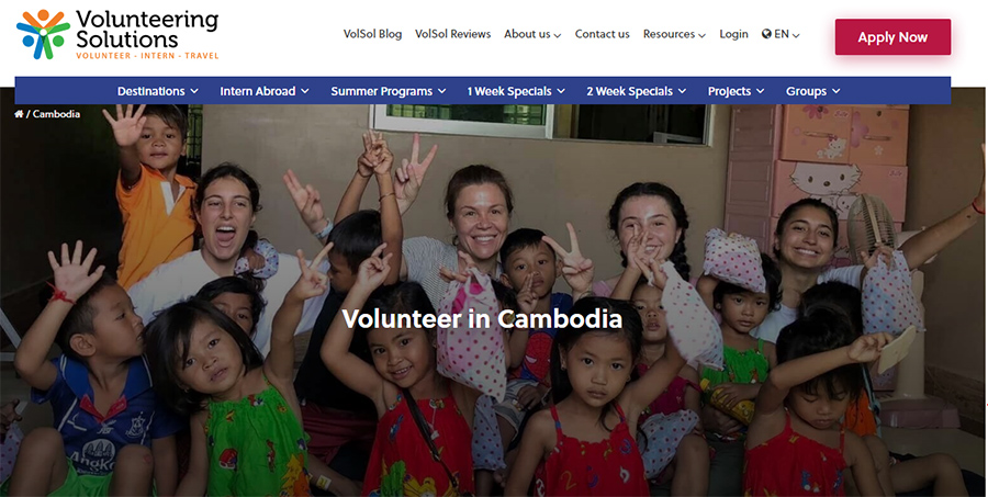 volunteering solution projects cambodia
