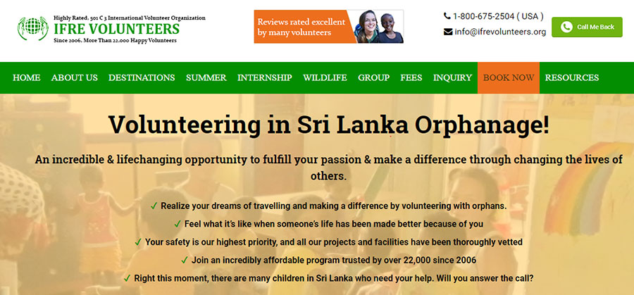 ifre sirlanka chidcare program