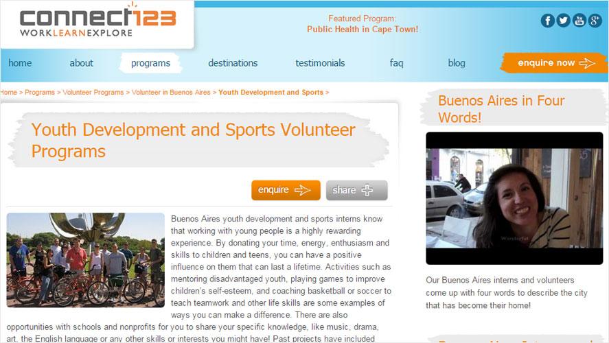 Connect123 Best Inexpensive Volunteer Argentina Programs