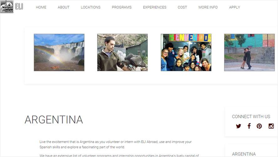 Eli Best Budget Volunteer Abroad Argentina Programs