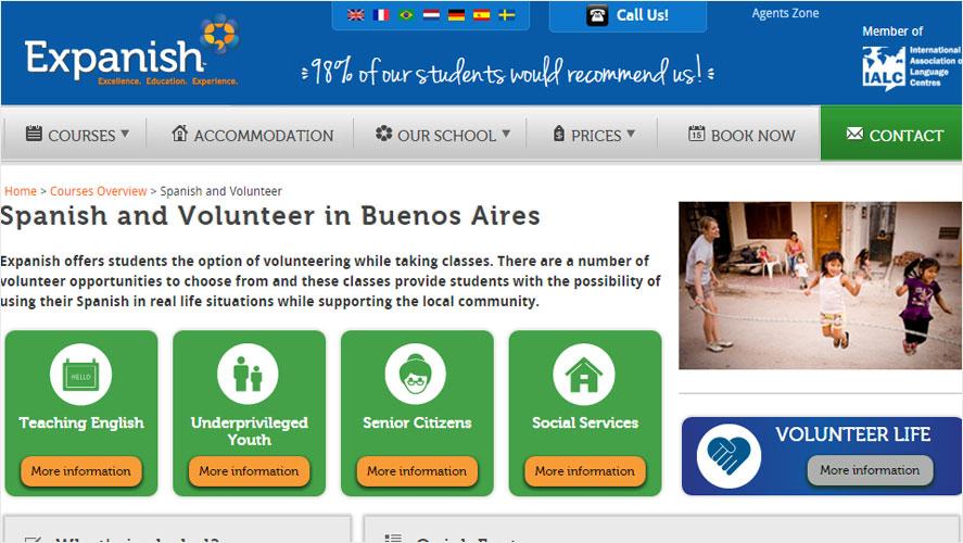 Expanish Cheap Volunteer Opportunities in Argentina