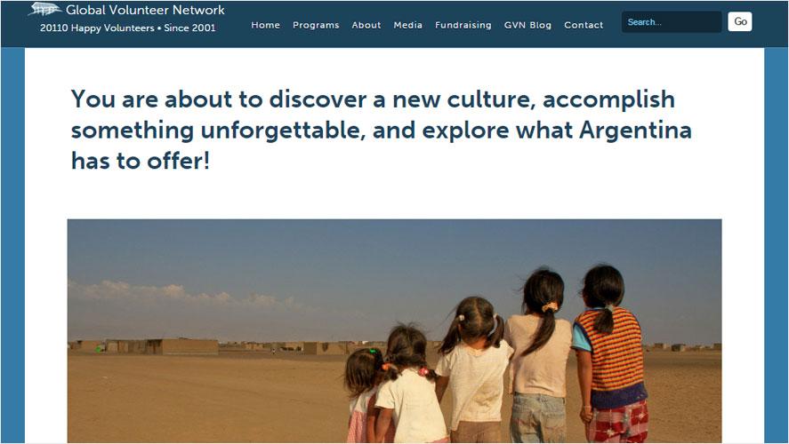 GVN Top Low Cost Volunteering in Argentina Opportunities