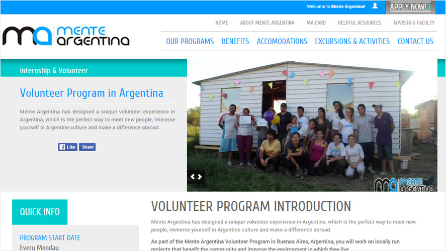 Mente Affordable Argentina Volunteer Projects