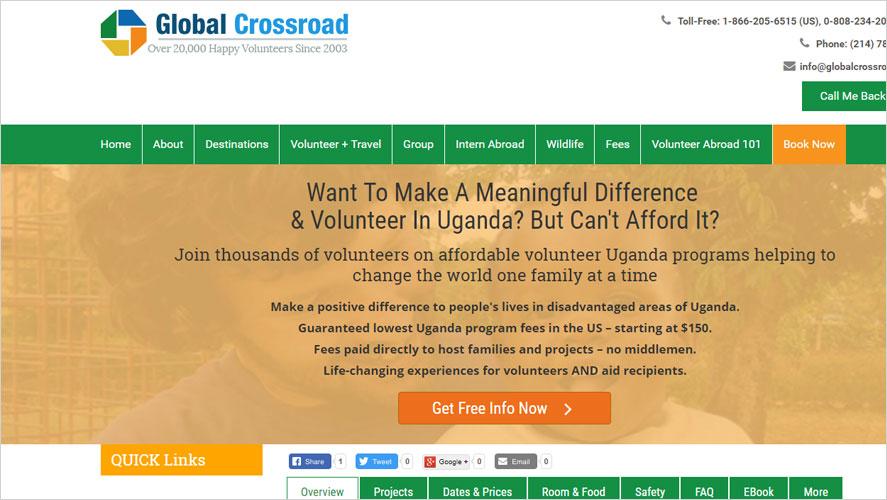Global Crossroad Highly Rated Volunteering Opportunities in Uganda