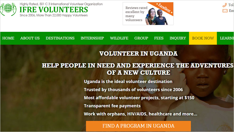 Highly Rated Volunteering Opportunities in Uganda IFRE