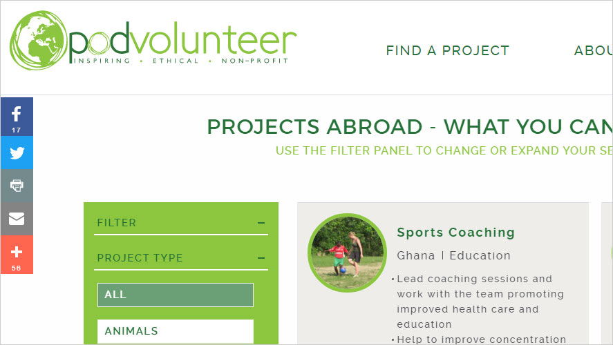 15 Budget and Highly Rated Volunteer Programs in POD