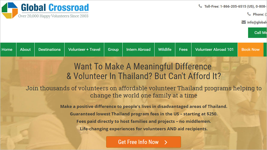 Best and Highly Rated Thailand Volunteer Organizations Global Crossroad
