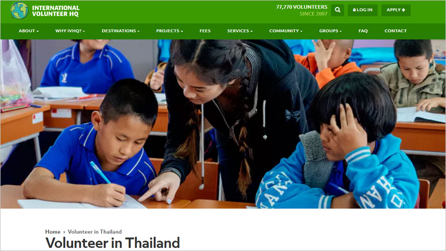 15 Best and Highly Rated Thailand Volunteer Organizations IVHQ