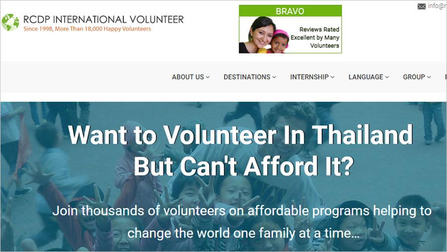 Top Thailand Volunteer Organizations RCDP