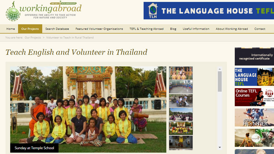 Best and  Rated Thailand Volunteer Organizations Working Abroad