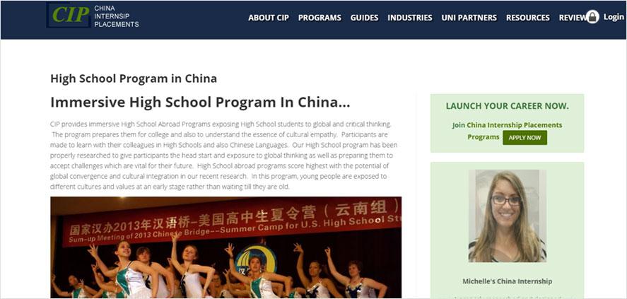 51 best highschool volunteering- China Internship Placements