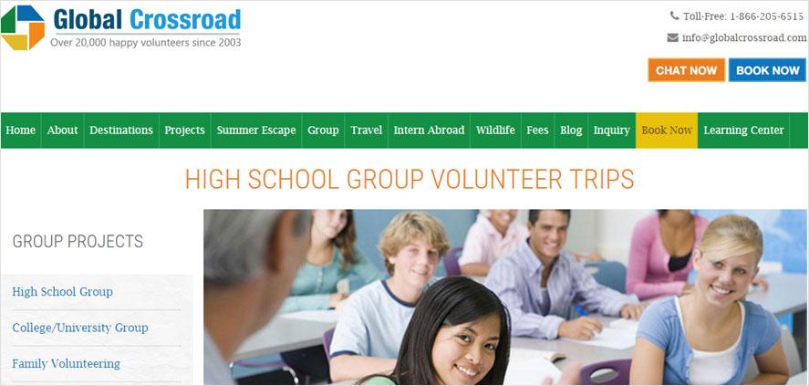 51 best highschool volunteering- Global Crossroad