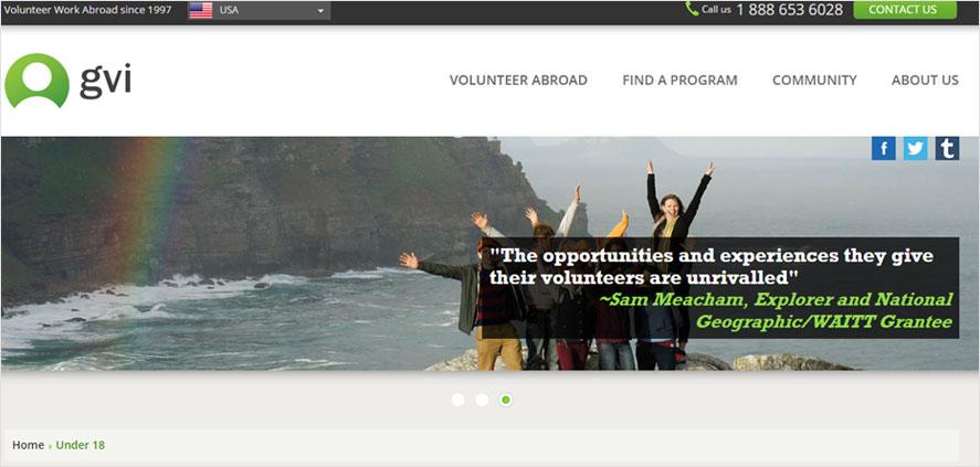 51 best highschool volunteering- gvi