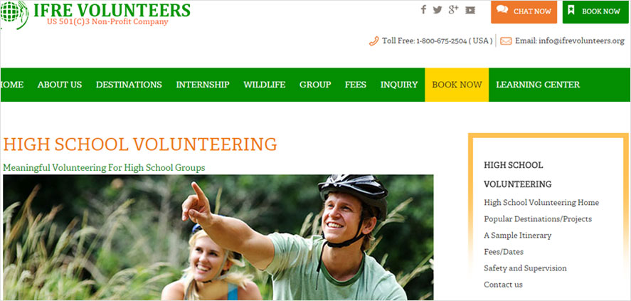 51 best highschool volunteering- IFRE volunteers