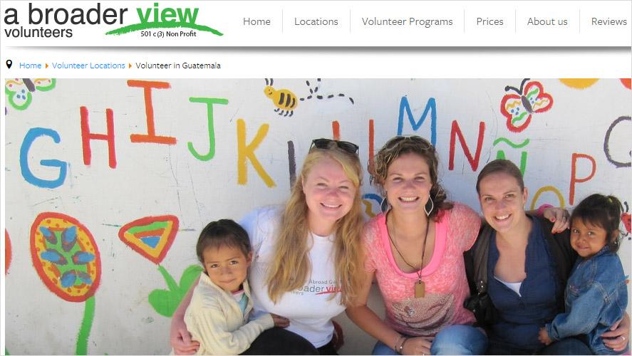 A Broader View Cheap Volunteering in Guatemala