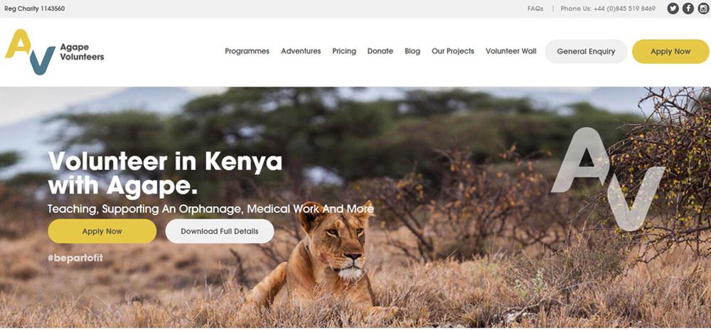 volunteer in Kenya with agape volunters