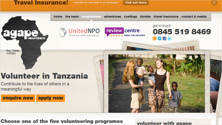 Tanzania volunteer opportunities by Agape Volunteers