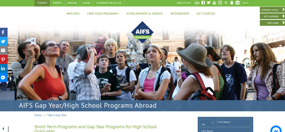 High school volunteer abroad with American Institute for Foreign Study