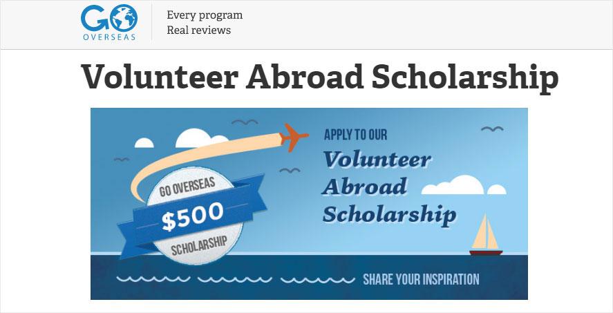 scholarship to volunteers by gooverseas