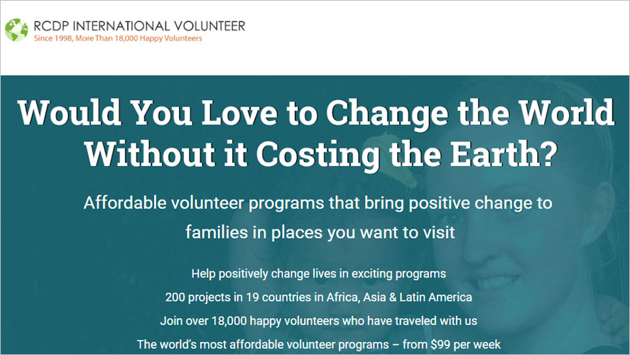 Best and Cheap Volunteer Abroad with RCDP