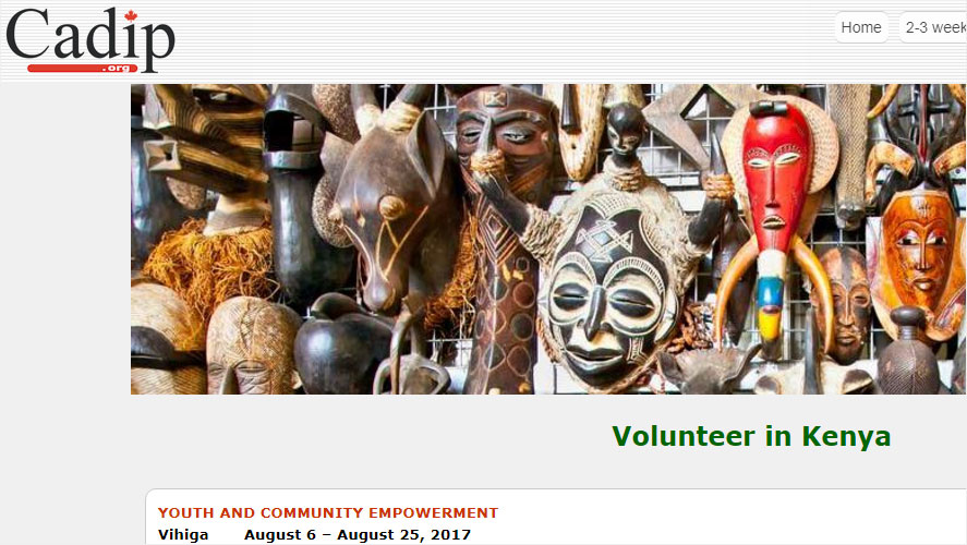 Best and Highly Rated Kenya Volunteer Organizations CADIP