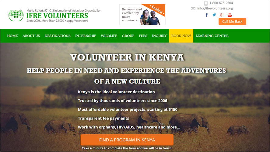 Highly Rated Thailand Volunteer Organizations  Kenya IFRE