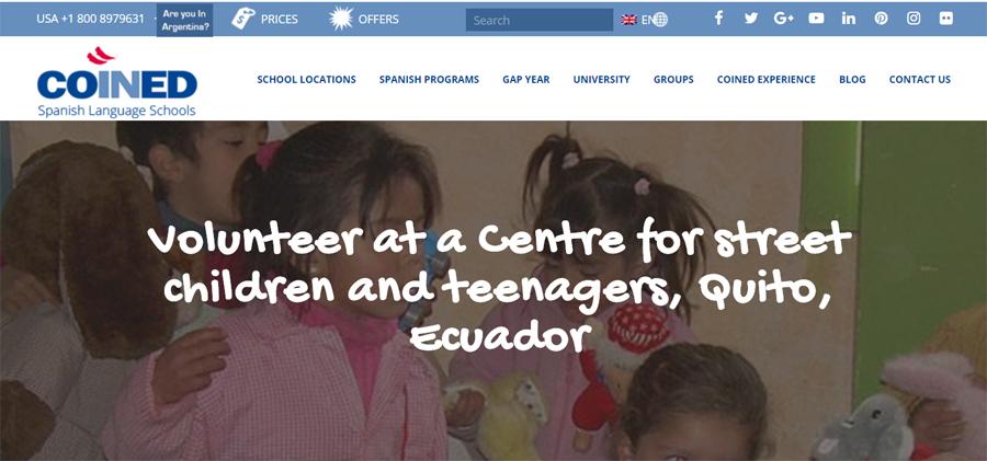 coined volunteering campaign in ecuador