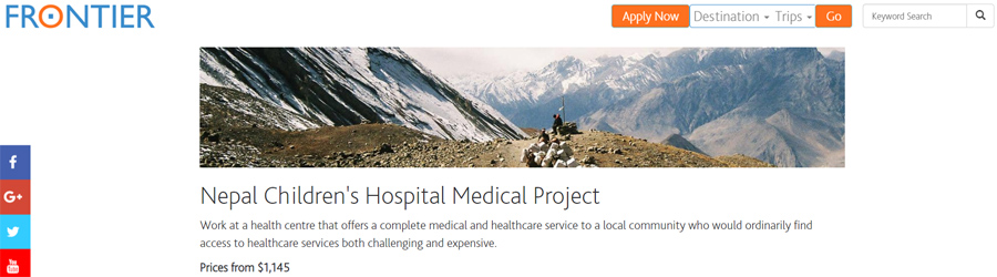 frontier volunteer nepal
