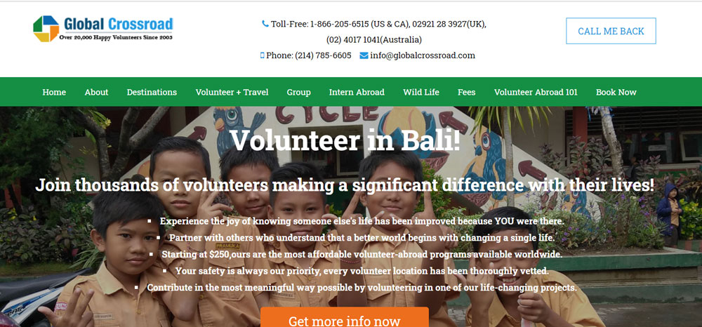 volunteer in Bali with Global Crossroad