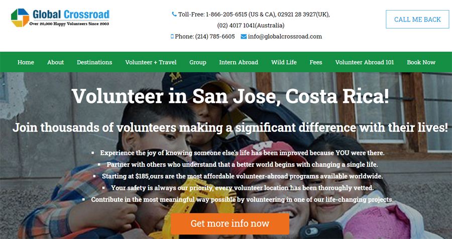 global corssroad volunteering in costarica