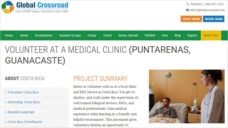 Global Crossroad Volunteer in Healthcare Costa Rica Projects