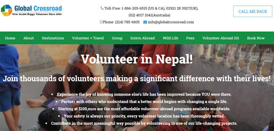 Gobal Cross road volunteer nepal