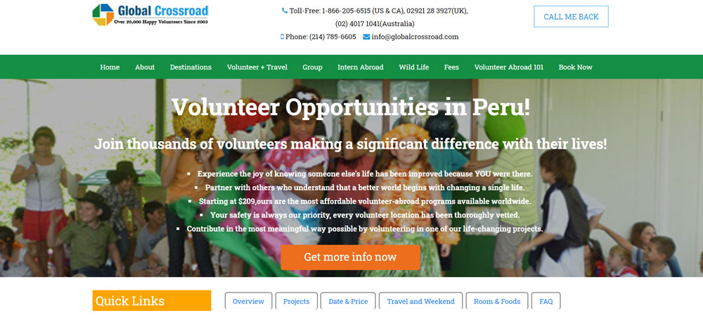 volunteer in Peru with Global Crossroads