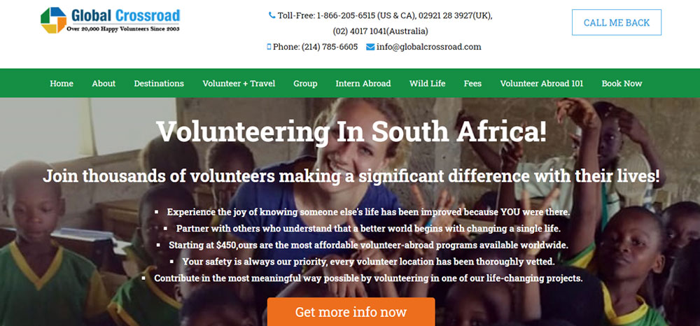 volunteer in South Africa with Global Crossroads