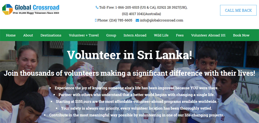 gcr volunteer in srilanka projects