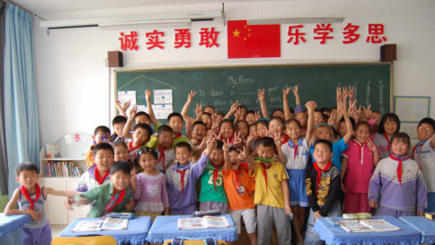 children from China English Teaching Project by Global Crossroad