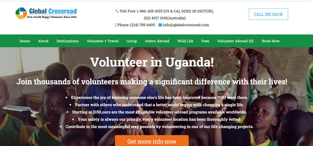 volunteer in Uganda with Global Crossroads