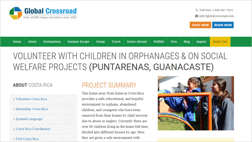 gcr childcare volunteering programs in costa rica