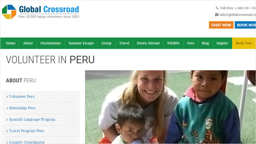 Global Crossroad Most affordable volunteer peru programs