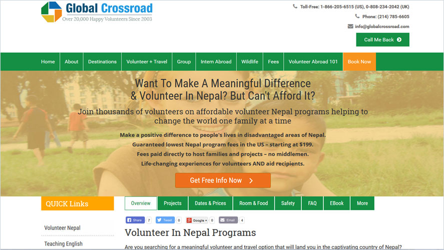 Best Volunteer Opportunities In Nepal by Global Crossroad