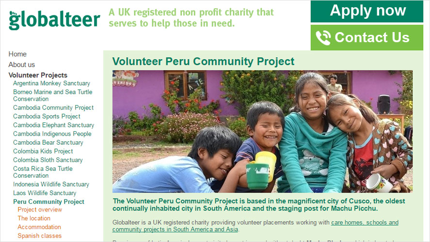 Best cheap volunteer programs in peru by Globalteer