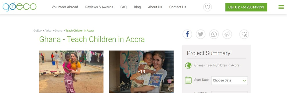 Goeco Ghana volunteeing project