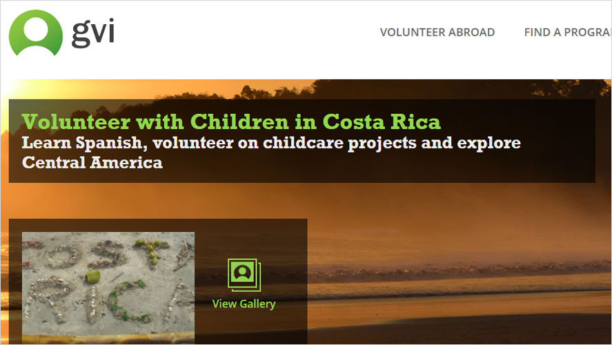 GVI childcare volunteering program in costa rica