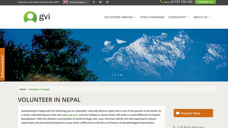 Best Volunteer Opportunities In Nepal by GVI