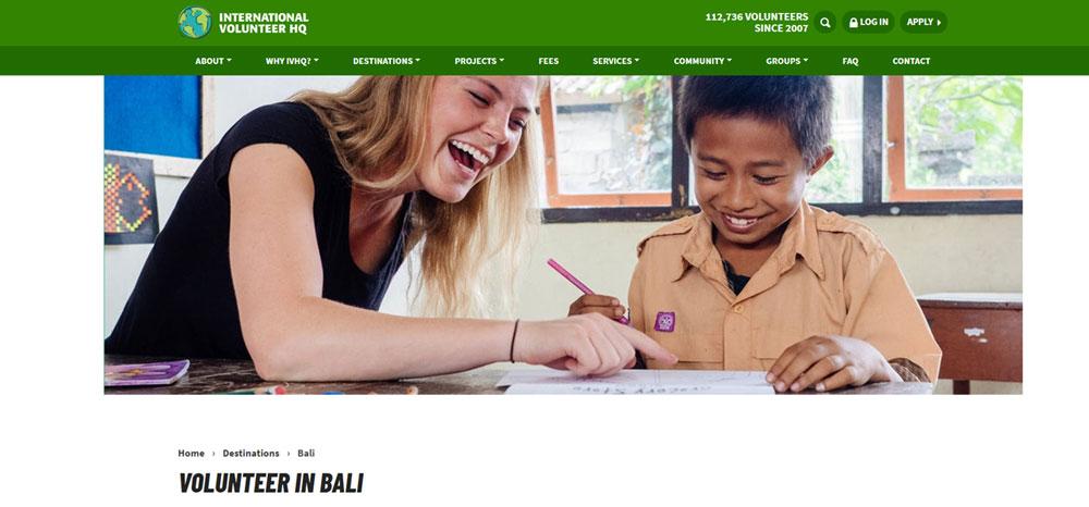 International Volunteer IVHQ Bali