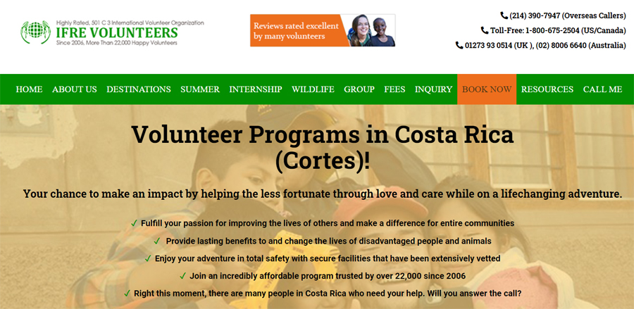 ifre volunteering costarica