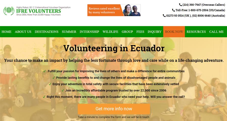 ifre volunteer program in ecuador