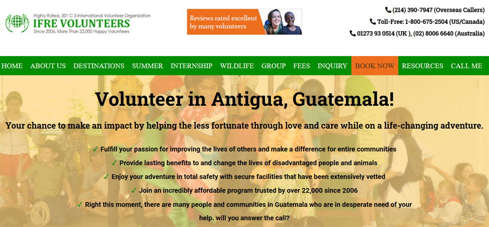 ifre volunteer guatemala